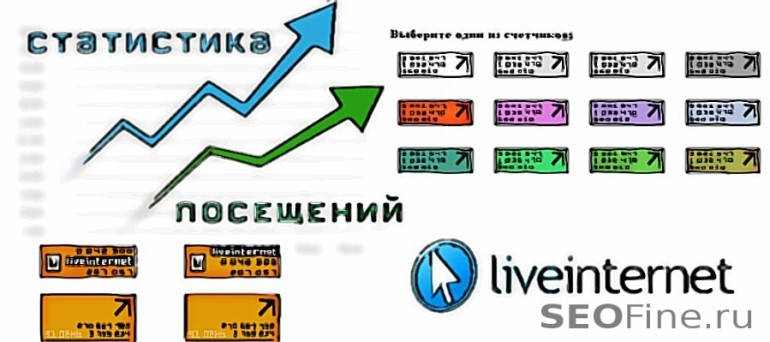 Статистика посещений LiveInternet
