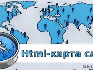 Html карта сайта в WordPress