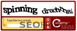 Пример reCAPTCHA