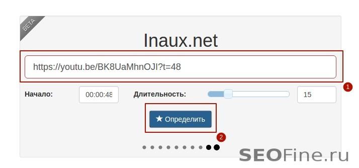 Форма поиска на http://inaux.net/